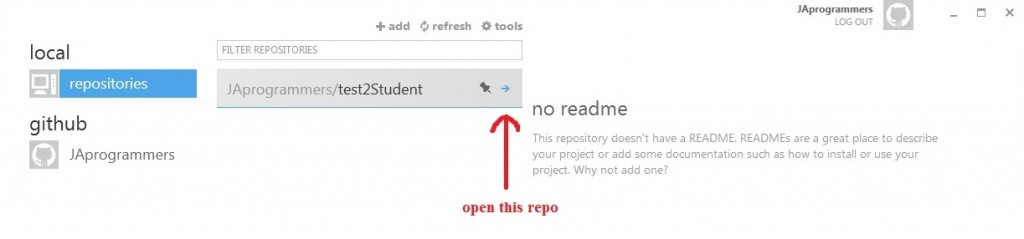 commit - open this repo